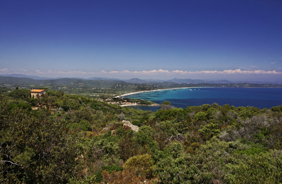 Beaches and beautiful coastline for miles in St Tropez