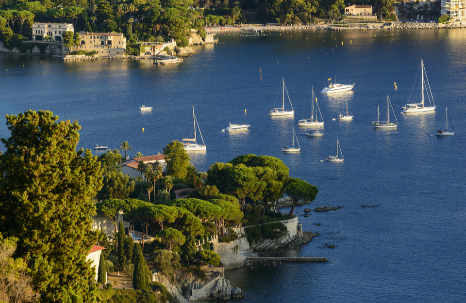 St Jean Cap Ferrat Boats in the Bay