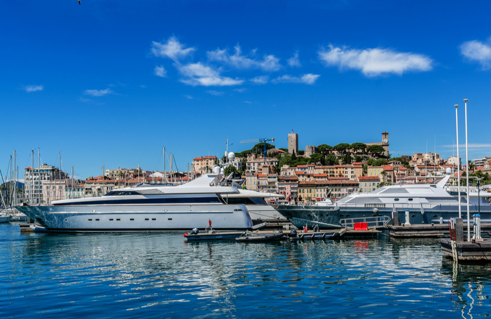 Yachts in Cannes Port