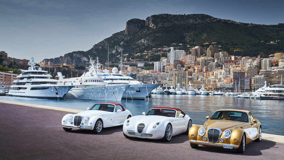 Monaco with supercars and superyachts