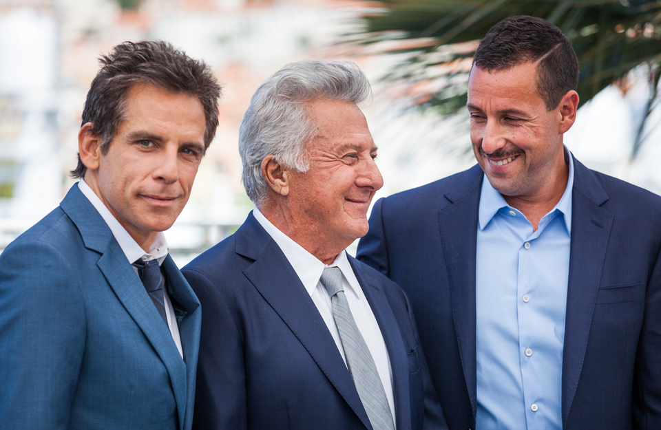 Ben Stiller, Dustin Hoffman and Adam Sandler at the Cannes Film Festival