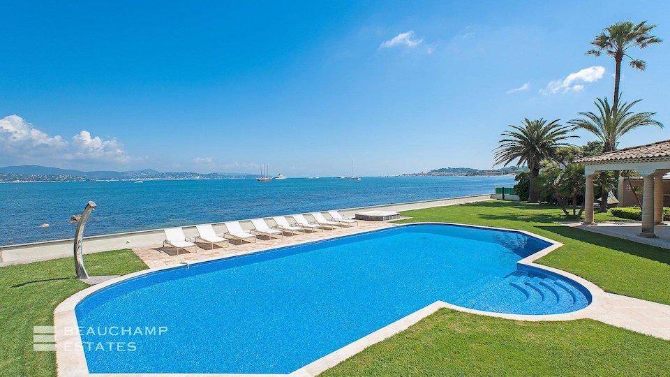 Amazing Beach Front Swimming Pool at St Tropez Villa