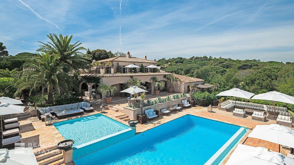 Kids and Adults Swimming Pools at Villa in Ramatuelle