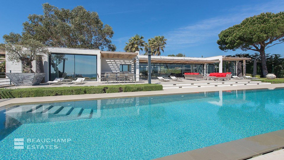 Swimming Pool at St Tropez Villa With Sea Views