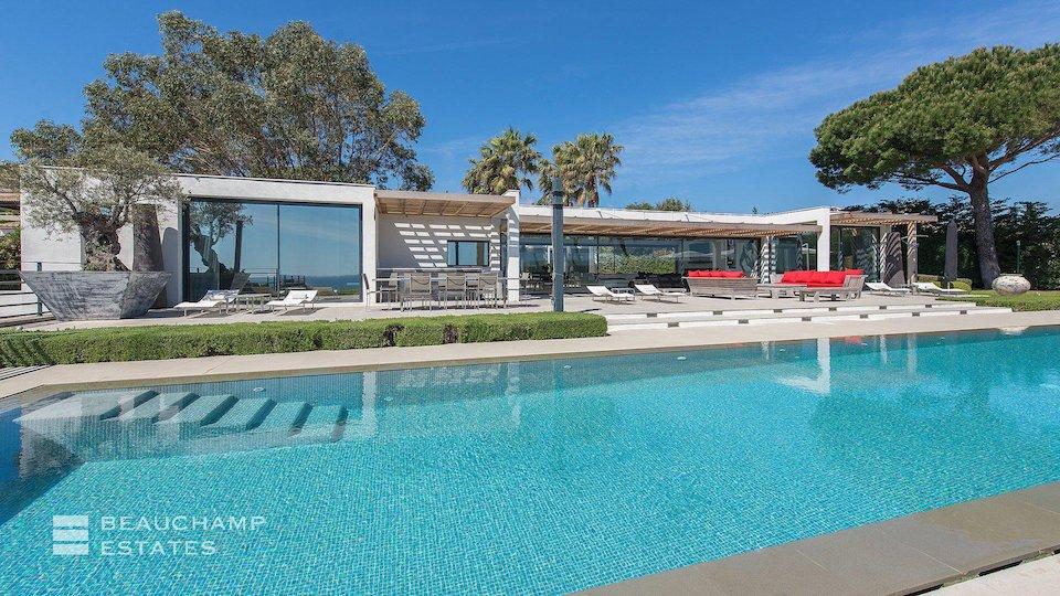 Swimming Pool at St Tropez Villa With Sea Views