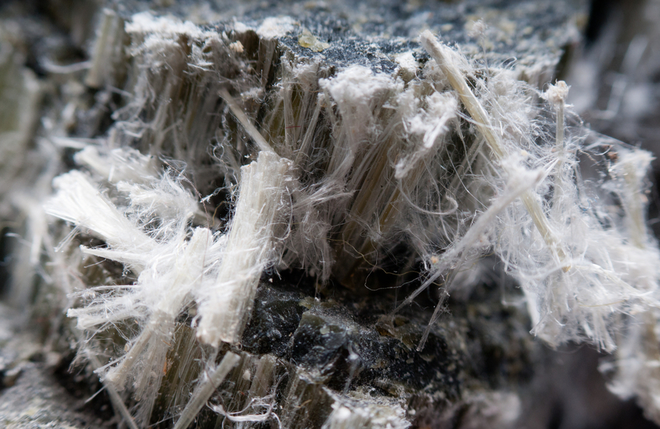 Asbestos chrysotile fibres which can be bad for your health