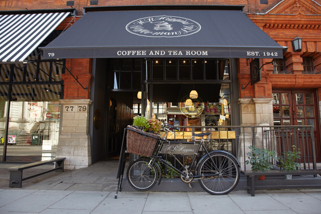 Higgins Coffee Shop, Mayfair London