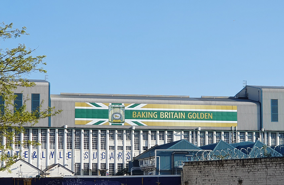 Tate & Lyle, Plaistow Wharf: producing golden syrup sinece1885 – the logo has been unchanged since its inception, earning it a Guinness World Record for the world's oldest branding