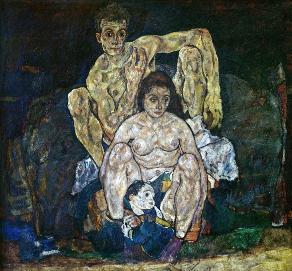 "Egon Schiele's ""The Family"" (1918). © The Belvedere Vienna."